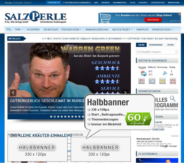 Webseiten-Bannerwerbung-Startseite
