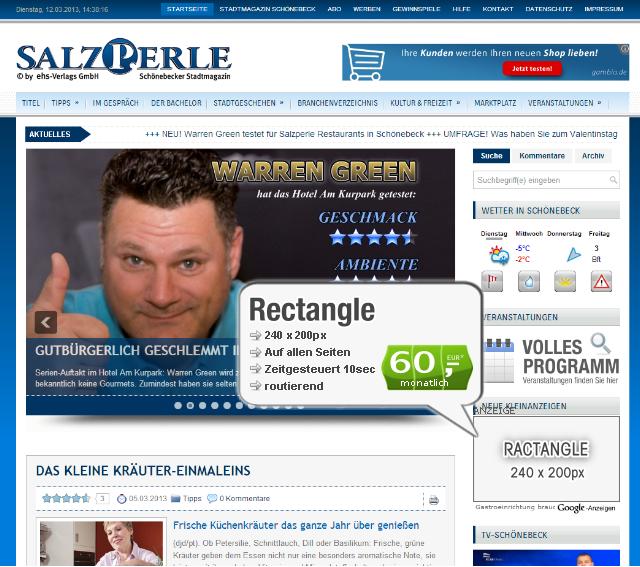 Webseiten-Bannerwerbung-Sidebar