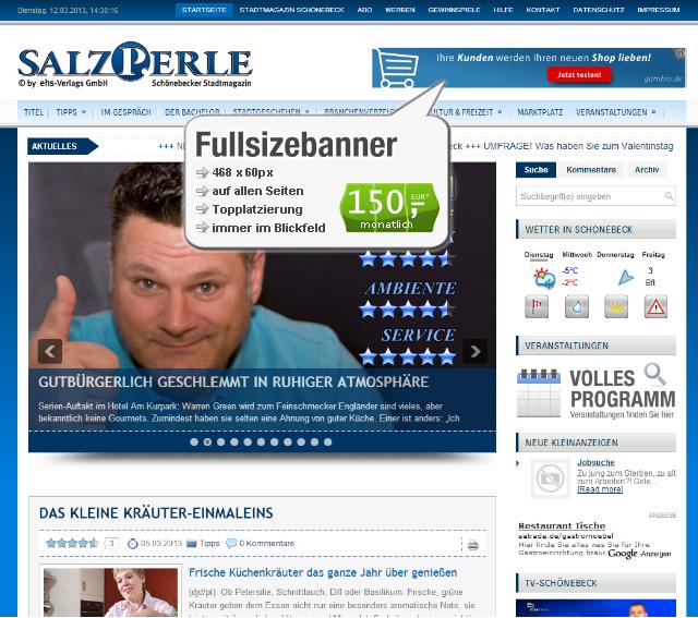 Webseiten-Bannerwerbung-Topbanner
