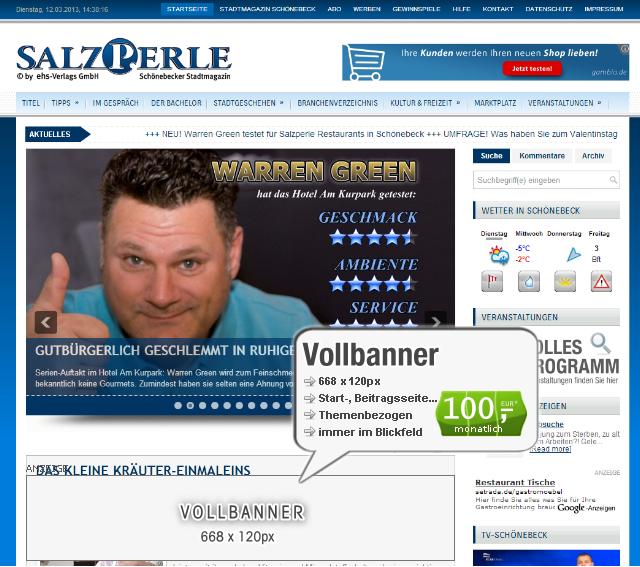 Webseiten-Bannerwerbung-Vollbanner